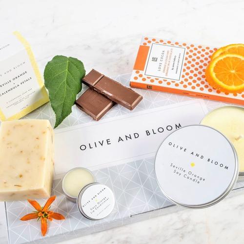Olive and Bloom Seville Orange Gift Set graphic design