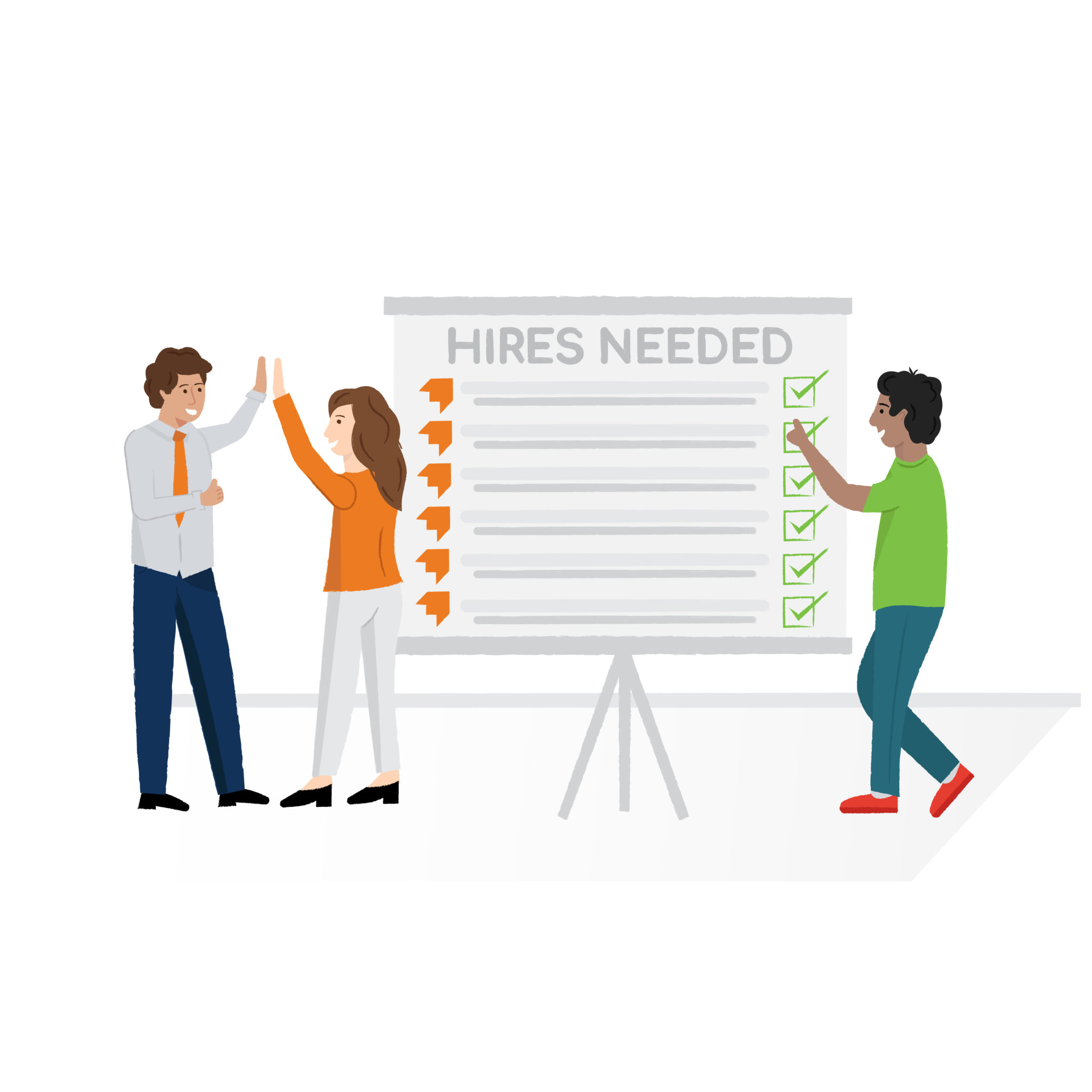 Hired By startups illustration and graphic design